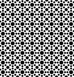 Black and white seamless circle pattern vector image