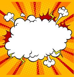 Bomb explosion cloud comic book pop art vector