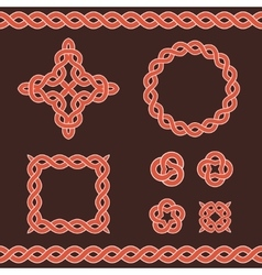 Celtic ornamental design elements vector image
