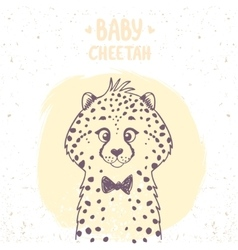 Cheetah baby vector