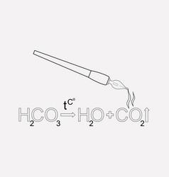 chemical formula icon line element vector image