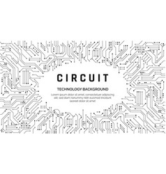 Circuit board texture for banner abstract vector