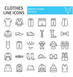clothes line icon set clothing symbols collection vector image