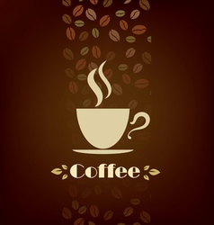 coffee cup background menu template vector image