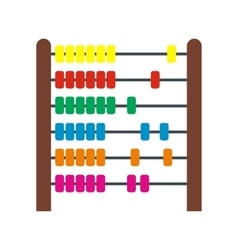 Colorful children abacus icon vector