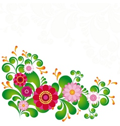 Colorful flower Floral background To see similar vector image