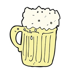 Comic cartoon mug of beer vector