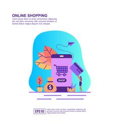 concept online shopping modern conceptual for vector image