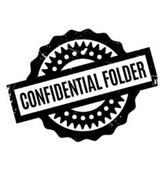Confidential Folder rubber stamp vector