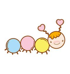 cute worm cartoon vector image