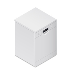 Dishwasher detailed isometric icon vector image