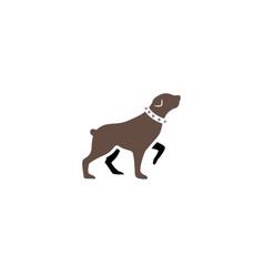 dog rottweiler logo vector image