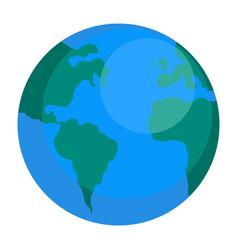 earth globe icon flat style vector image