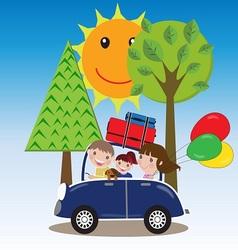 Family road trip vector