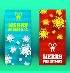 festive greeting vertical banners vector image