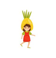 flat icon of adorable preschool girl in vector image