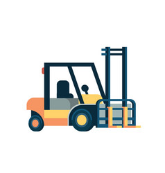 forklift loader pallet stacker truck equipment vector image