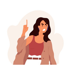 furious angry woman shouting and screaming with vector image
