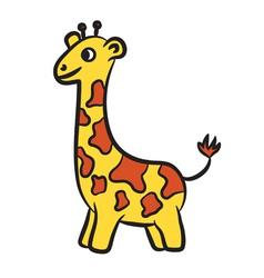 giraffe vector image