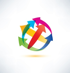 Globe arrow abstract symbol vector