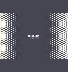 halftone hexagonal pattern border abstract vector image