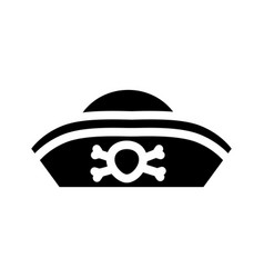 Hat pirate glyph icon vector