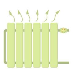 Heating battery icon cartoon style vector
