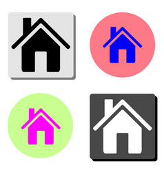 home flat icon vector image