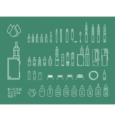 icon set of vaping e-cigarette vector image