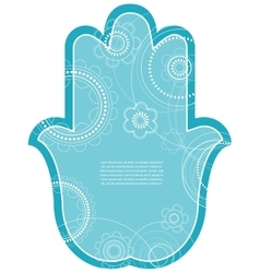 Indian hand drawn hamsa with ethnic vector image