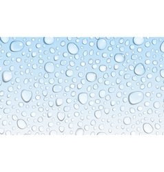 Light blue background of water drops vector
