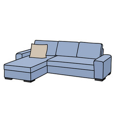 Light blue sofa vector