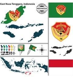 Map of East Nusa Tenggara vector image