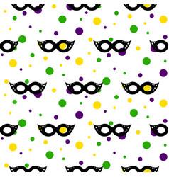 masquerade mask mardi gras carnival seamless vector image