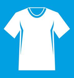 Men tennis t-shirt icon white vector
