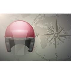 Motorcyclist traveler background vector