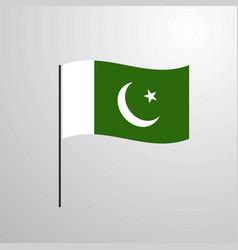 Pakistan waving flag vector