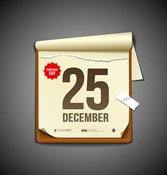 Paper december calender vector