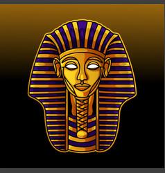 Pharaoh head mascot logo design vector