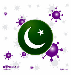 Pray for pakistan covid-19 coronavirus typography vector