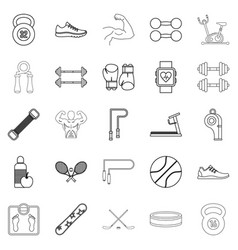 racetrack icons set outline style vector image