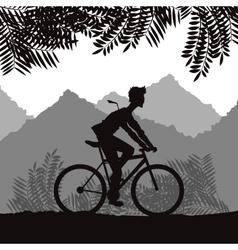 Ride a bike design vector image