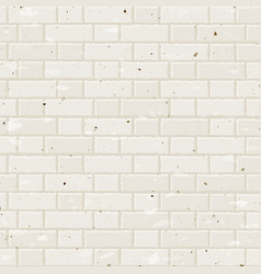seamless beige brick wall vector image