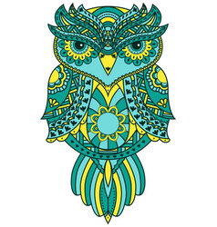 Serious big owl with various pattern vector
