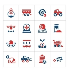 Set color icons of agriculture vector image