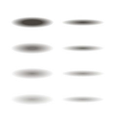 set of different oval shadows vector image