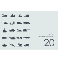 Set of military equipment icons vector image