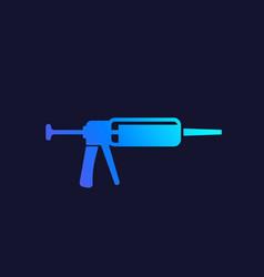 silicone gun icon vector image