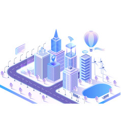 smart city modern concept isometric vector image