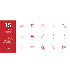 Soil icons vector